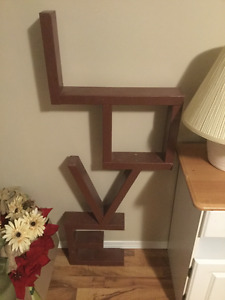 Love sign made out of 2x4 wood 40$