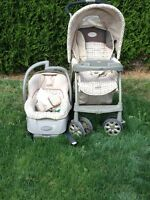 EvenFlo Journey/Discovery Travel Stroller Set
