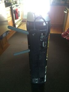 Xbox360 Elite slim 120gb 2 wireless controllers, wifi, 21 games! Peterborough Peterborough Area image 2