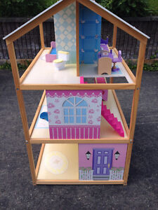 Wooden Doll House with Wooden Furniture. Like new. St. John's Newfoundland image 2
