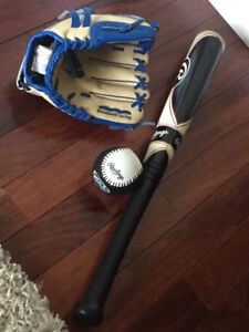 Kid's ball glove and foam bat
