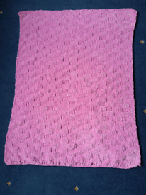 New, hand knitted baby blanket