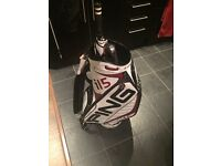 White leather ping G15 tour bag. Brand new, unused