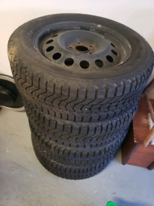 225/60R17 firestone winter tires with rims