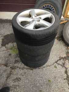 "4 Alloy 17"" Mazda rims and summer tires"