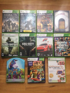 Xbox 360 500Gig (black) in new condition with games pack!