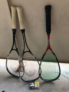 1 Technifibre Carboflex 140 & 2 Head Ti-Blast Squash Rackets