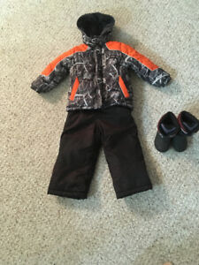 Boys Winter Coat, Snow Pants and Boots