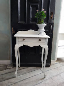 Taller than Average Side Table or Entryway Table with Drawer