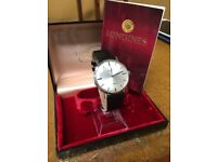 Vintage Longines watch with box and papers