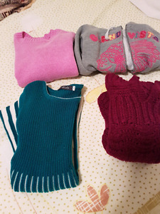 Sweaters, hoodie and a sweater dress 5T
