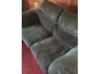 4 piece large brown cord suite for sale