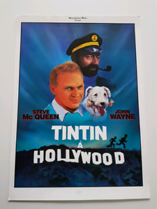 AFFICHE TINTIN A HOLLYWOOD