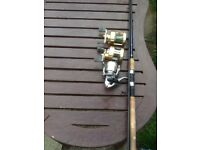 Fishing rod and reels
