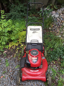 Craftsman 6.5hp lawn mower with mulch bag.