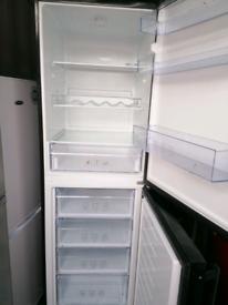 Tall black fridge freezer £130