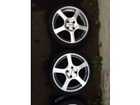 "Dotz Racing alloys . 17"" Ford fitting with 4 new tyres"