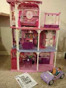2 Barbie Houses, 2 Barbie cars, Barbies and accessories,