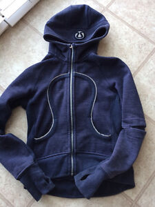 """Lululemon special edition """"ride on rock on"""" hoodie size 6"""