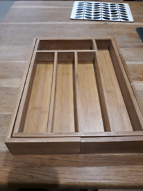 Extendable Cutlery Tray Wooden