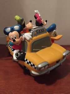 DISNEY MICKEY MOUSE & FRIENDS TAXI COIN BANK