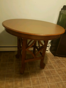 Large solid wooden kitchen table