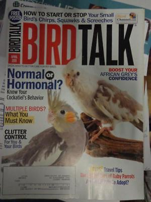 *BIRD TALK MAGAZINE Apr 11 Cockatiel African Grey Behavior Quaker Adopt Parrot