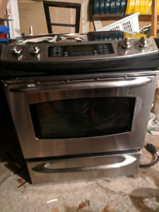 GE Profile Stainless Steel Glasstop Stove/Oven - for Parts (as i