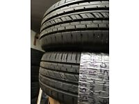 Pair of Runflat 195/55R16 87V Wanli tyres with 6-7mm tread