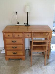 Wood desk, reduced price