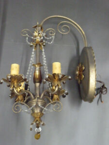 PAIR of SCHONBEK 4-LIGHT WALL LANTERNS – MUST SEE!!