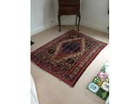 Persian rug 50' X 69' reds & navy