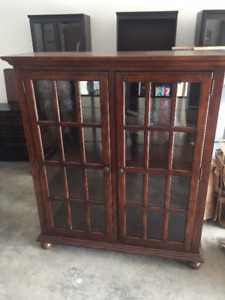 High-end Solid Wood Glass Door Display Cabinet