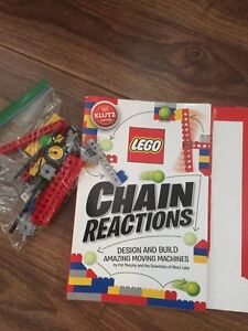 Lego chain reaction book and pieces