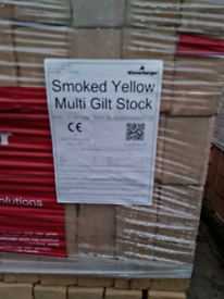 Smoked yellow multi glit stock buff Facing Bricks