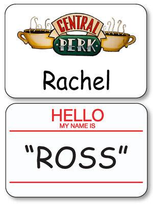 Ross Halloween Friends (ROSS & RACHEL CENTRAL PERK FRIENDS NAME BADGES PROPS HALLOWEEN COSTUME PIN)