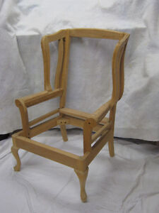 Wing-back chair frames