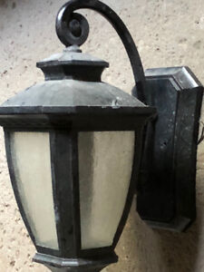 Porch Light & Tea Light Candle Holder With Stones $25 for both