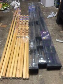 Cutain Pole wooden/chrome/nickle finsh