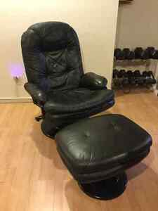 High Quality Leather Recliner and Ottoman X 2