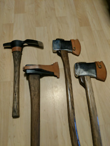 Decorative hand-restored axes