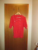 Le Chateau coral short-sleeved sweater (XXS)