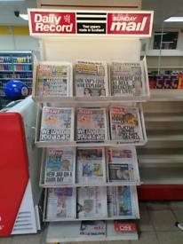 Newspaper display stand