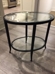 Two Black End, Side Tables