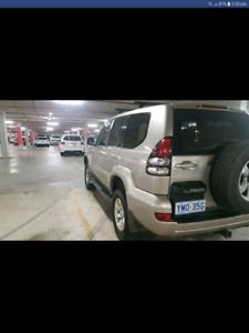 2003 gxl prado 8 seater 2 inch lift dvd 5spd MANUAL swap