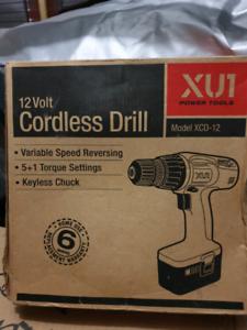 XU1 12volt Cordless Drill