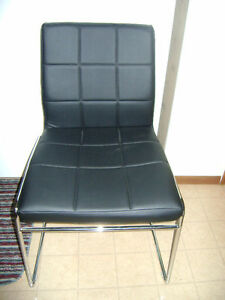 2 Black & Chrome Chairs - Almost NEW