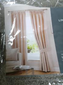 Dunelm Beige Blackout Pencil Pleat Curtains (2 sets)