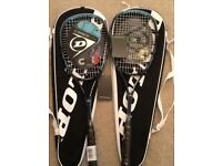 2 x Dunlop Biomimetic Tour CX Squash Rackets