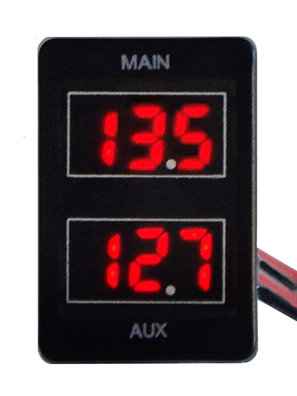 Dual Battery Volt Meter for Toyota Prado 150 Landcruiser